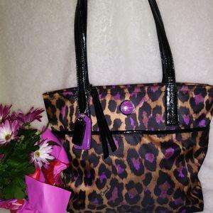 Coach Ocelot Sateen handbag 25282